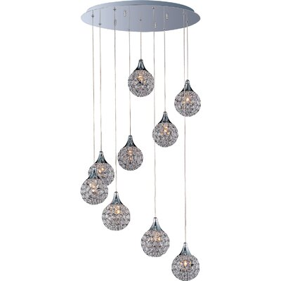 Wildon Home ® Vibrato 9 - Light Multi - Light Pendant