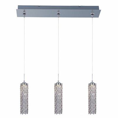 Wildon Home ® Sparkle 3 - Light Linear Pendant