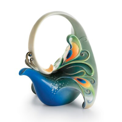 Franz Collection Peacock Splendor Porcelain Teapot