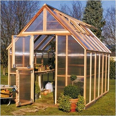Sunshine Gardenhouse Mt. Rainier 10' H x 8.0' W x 12.0' D Polycarbonate 4.5 mm GardenHouse
