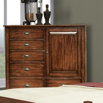 A-America Kettle Falls 6 Drawer Gentleman's Chest