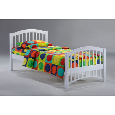 Night & Day Furniture Zest Molasses Bed in White