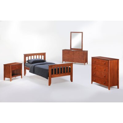 Night & Day Furniture Zest Licorice Slat Bedroom Collection