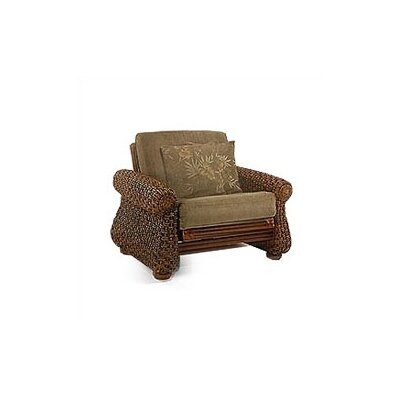 Night & Day Furniture Rattan Floral Iris Futon Chair Frame