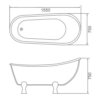 ECT Global Monarch Claw Bath Tub