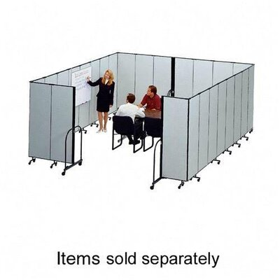 "ScreenFlex Interlocking Mobile Partitions, 13 Panels, 24'1""x8'"
