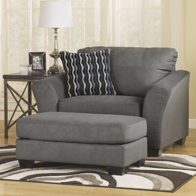 ... by Ashley Ladonia Chair and a Half and Ottoman & Reviews  Wayfair