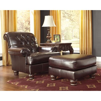 Weslynn Place Arm Chair and Ottoman