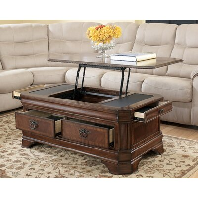 Signature Design by Ashley Hamlyn Trunk Coffee Table with Lift Top & Reviews | Wayfair