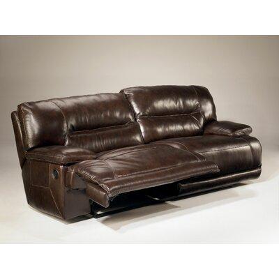 Venice Leather Reclining Sofa Wayfair