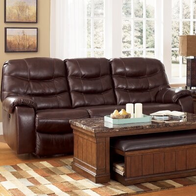 Fernley Leather Reclining Sofa