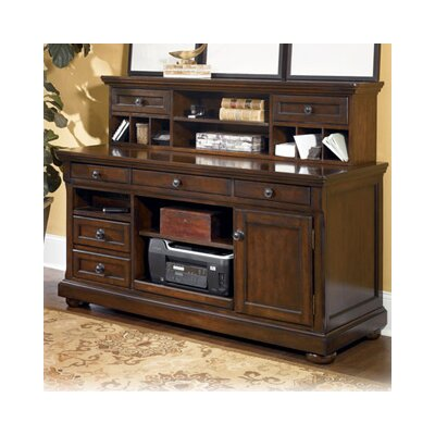 Porter Storage Leg Writing Desk with Hutch
