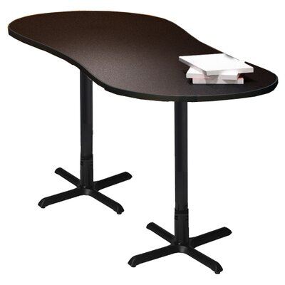 "Mayline Group Bistro Series 72"" W x 30"" D Peanut Gathering Table"