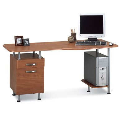 "Mayline Group Desk Workstation, Box/File, 63""x28-3/4""x29"", Medium Cherry"
