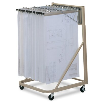 Mayline Group Vertical Plan Files Rolling Stand Filing Cart