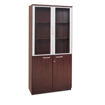 High Wall Cabinet with Glass Doors