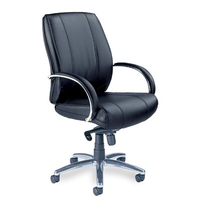 Mayline Mercado Mid-Back Leather Office Chair with Arms