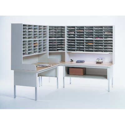 "Mayline Group Mailflow-To-Go: Shelf for 48"" W Work Table"