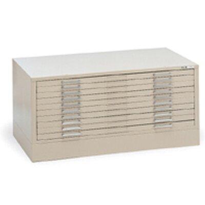 Mayline Group C-Files Ten-Drawer Flat File Filing Cabinet
