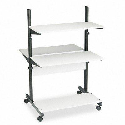 Mayline Group Soho Fully Adjustable Mobile Computer Table, 32W X 31D X 50H
