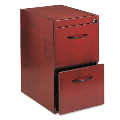 Mayline Group File/File Pedestal For Desk, 15W X24D X 27H, Sierra Cherry