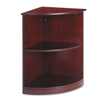 Mayline Group Corsica Series 1/4 Round Bookcase, 2 Shelves, 19W X 19D X 29-1/2H, CY