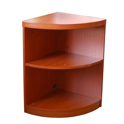 Mayline Group Aberdeen 2-Shelf Quarter Round Bookcase