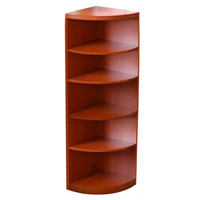 Mayline Group Aberdeen 5-Shelf Quarter Round Bookcase