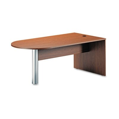 Mayline Group Brighton Series Writing Desk Peninsula in Cherry