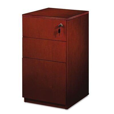 Mayline Group Luminary Series Wood Veneer Freestanding Box/Box/File Pedestal