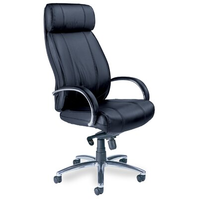 Mayline Mercado High-Back Leather Office Chair with Arms