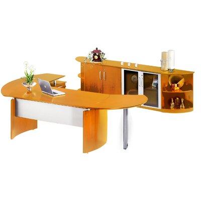 Mayline Group Napoli L-Shape Desk Office Suite