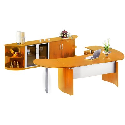 Mayline Group Napoli L-Shape Desk Office Suite