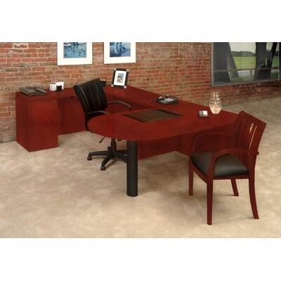 Mayline Group Luminary Series U-Shape Executive Desk Typical #13