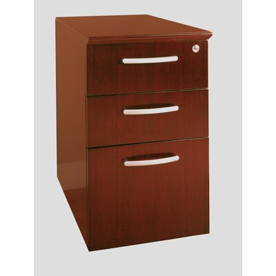 Mayline Group Napoli Pedestal File, 15-1/4W X24D X 27-1/2H, Sierra Cherry