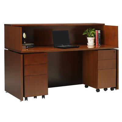 Mayline Group Stella Reception Station with Pedestals