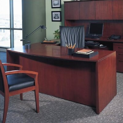 Mayline Group Corsica Bow Front Office Desk