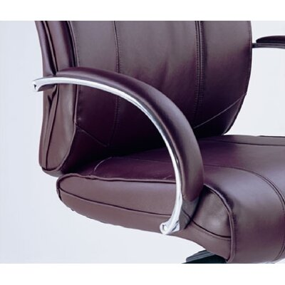 Mayline Group Mercado Mid-Back Leather Office Chair with Arms