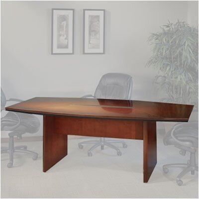 Mayline 12' Corsica Boat-Shaped Conference Table