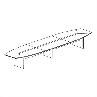 Mayline Group 18' Corsica Boat-Shaped Conference Table