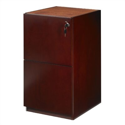 Mayline Group Luminary 22&quot; Pedestal with Two File Drawers