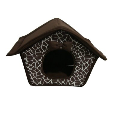 Mosaic House Pet Bed in Brown