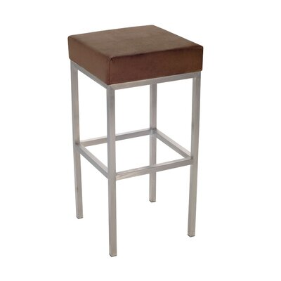 R+V Living Aqua Bar Stool in Choc Suede