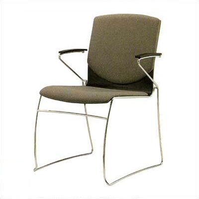 Source Seating Zag Leather Guest Side Chair