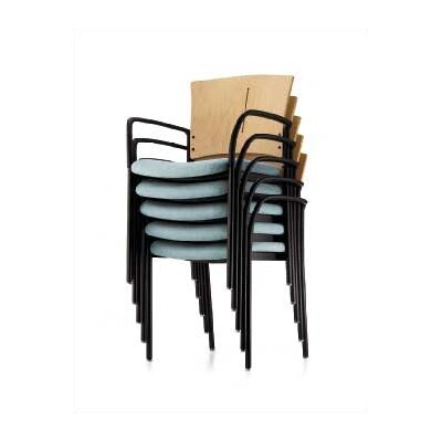 Source Seating Cache In Stacking Chair (Upholstered Seat with Wood Back)