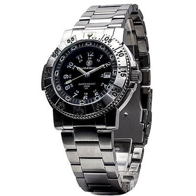 Smith & Wesson Aviator Men's Tritium H3 Round Face Link Watch