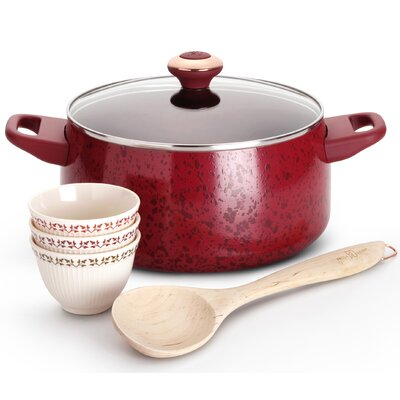 Enamel on Steel Aluminum 5-Piece Cookware Set
