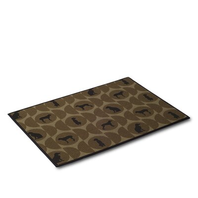 Polka Dog Cork Mat