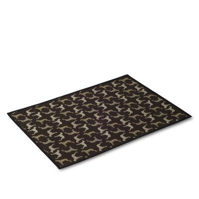 Crypton Midnight Black Dog Mat