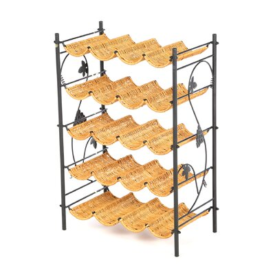 Wicker 20 Bottle Wine Rack